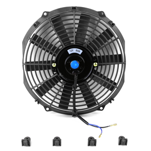 12 '' 12V Coche negro Eléctrico Slim Push / Pull Engine Bay Cooling / Radiator Fan + Kit de montaje